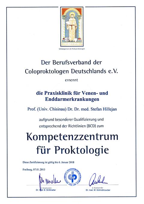 Zertifikat-Kompetenzzentrum-Proktologie